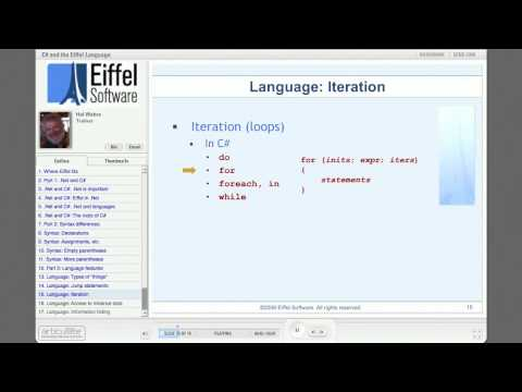 Where Eiffel Fits: Part 2 - C# and Eiffel the Language