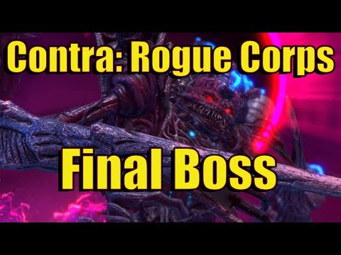 Contra: Rogue Corps TRUE Final Boss - The Red Falcon + Ending [4K]