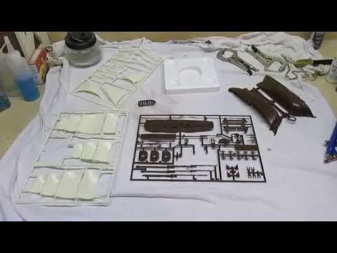 Academy Minicraft HMS Bounty Model Ship Build Part 1 Painting Sails, Hull and Deck