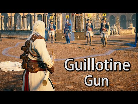 Assassin's Creed Unity No Hud Altair`s Outfit & Guillotine Gun Free Roam