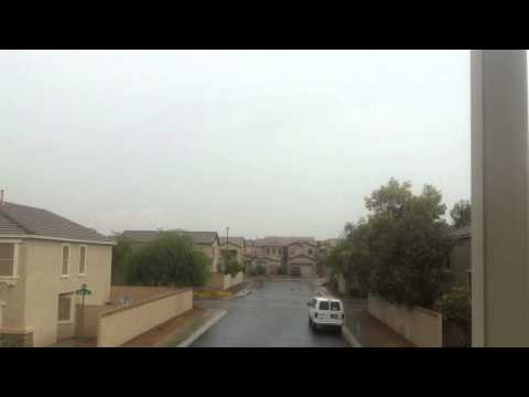 Rain Ambience 4th of July 2012 Phoenix Arizona - 2nd Story Balcony Perspective