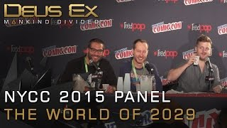 Recorded at New York Comic Con 2015 this panel with the Deus Ex Mankind Divided team centers on the creation of the games world set in 2029 Skip to