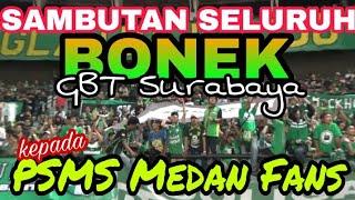 Download Video Begini Saat Ribuan Bonek dan PSMS Medan Fans saling Sapa Chant di GBT Surabaya MP3 3GP MP4