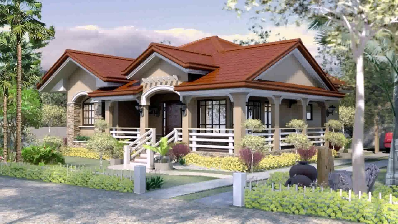 bungalow house designs and floor plans in the philippines - youtube