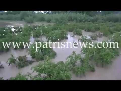 Ηλεία: Πλημμυρισμένο τοπίο η Σαλμώνη
