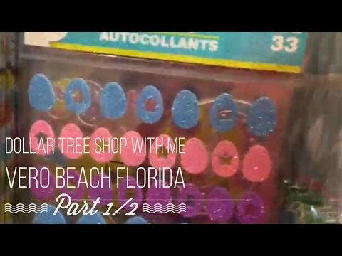 Dollar Tree Shop With Me Part 1/2 Vero Beach Florida March 22, 2017