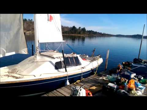 "Sailing Shoals on yacht ""Gypsy Queen"" Sandpiper 565 cutter rig"
