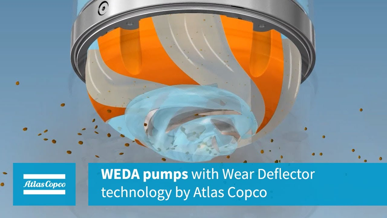 WEDA pumps with Wear Deflector technology by Atlas Copco