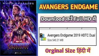 Download Avenger Endgame Full Movies In Full HD 2019 ll HINDI & ENGLISH DUBBED ll