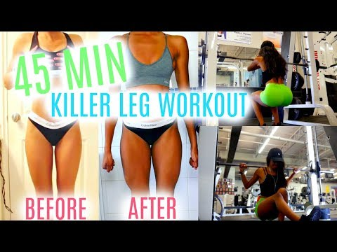 4 BEST SMITH MACHINE LEG EXERCISES | QUICK 45 MIN WORKOUT • Lawenwoss