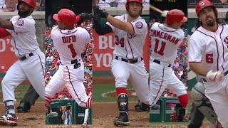 Extended Cut of Nationals hitting four straight homers, five in one inning