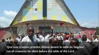 Holy Communion in French from Mbandaka DRCongo.mov