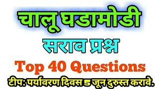 चालू घडामोडी 2018 सराव प्रश्न ।। मेगा भरती 2018 ।। current affairs mcq for all exams ।।