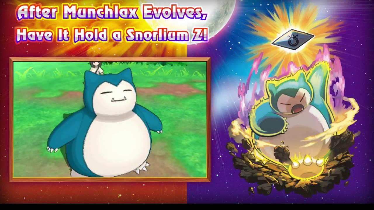 MYSTERY GIFT MUNCHLAX! - Pokemon Sun and Moon Trailer Analysis ...