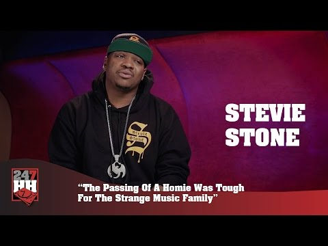 Stevie Stone - Passing Of A Homie Was Tough For The Strange Music Family (247HH Wild Tour Stories)