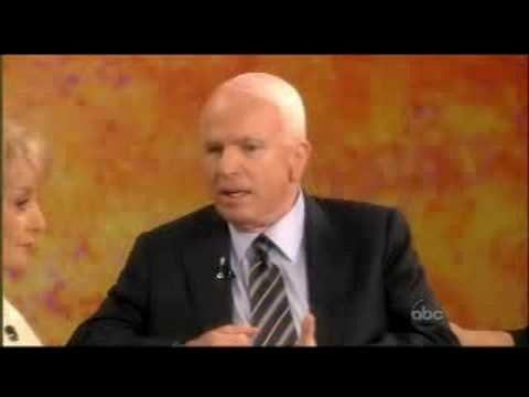 John McCain on The View 9-12-2008 part 1 of 3