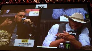 "BTS with Donald ""Cowboy"" Cerrone at the Go Big Press Conference"