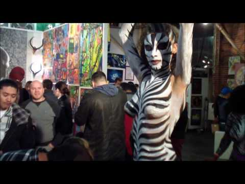Chocolate And Art Show Body Painting Artist Sal Lopez