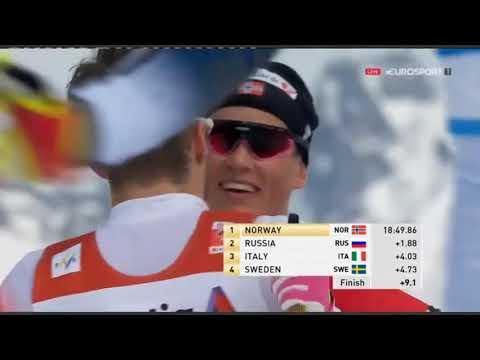 Финальный забег, мужчины. ЧМ 2019  Командный Спринт финалы  Cross Country Skiing