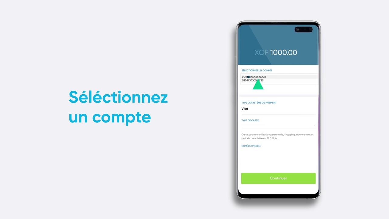 Appli Ecobank Mobile - Créer une Carte Virtuelle