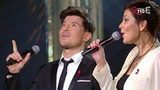 """Cristina Cordula et Vincent Niclo chantent """"C'est Magnifique"""""""