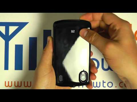 How To Remove Back Cover - ZTE Skate