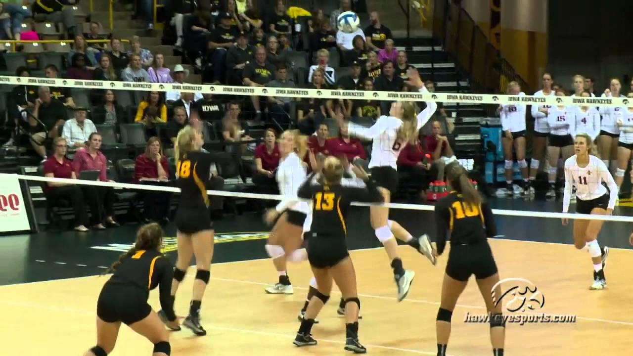 Iowa Volleyball Dominates Iowa State in 3-1 Win