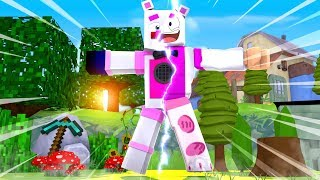 Funtime Freddy In Roblox Animatronic World - Minecraft FNAF Roleplay (Minecraft VS Roblox)