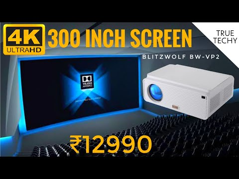 300 inch 4K Screen In ₹12990, BlitzWolf BW-VP2 Projector Review, Worlds Best Projector Under ₹15000