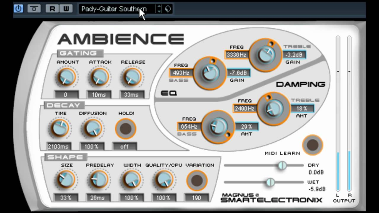 myVST Demo : AMBIENCE - YouTube