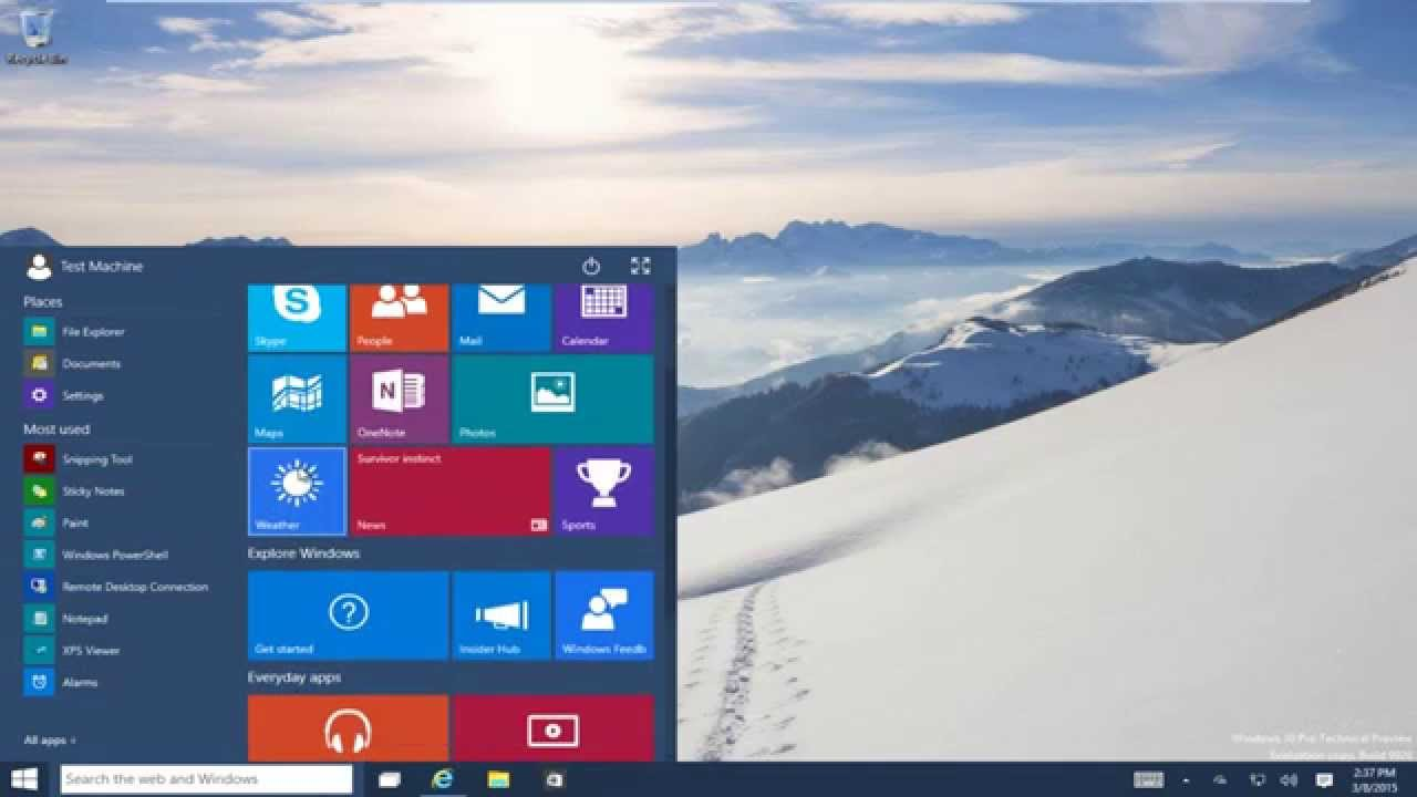how to open start menu in windows 10