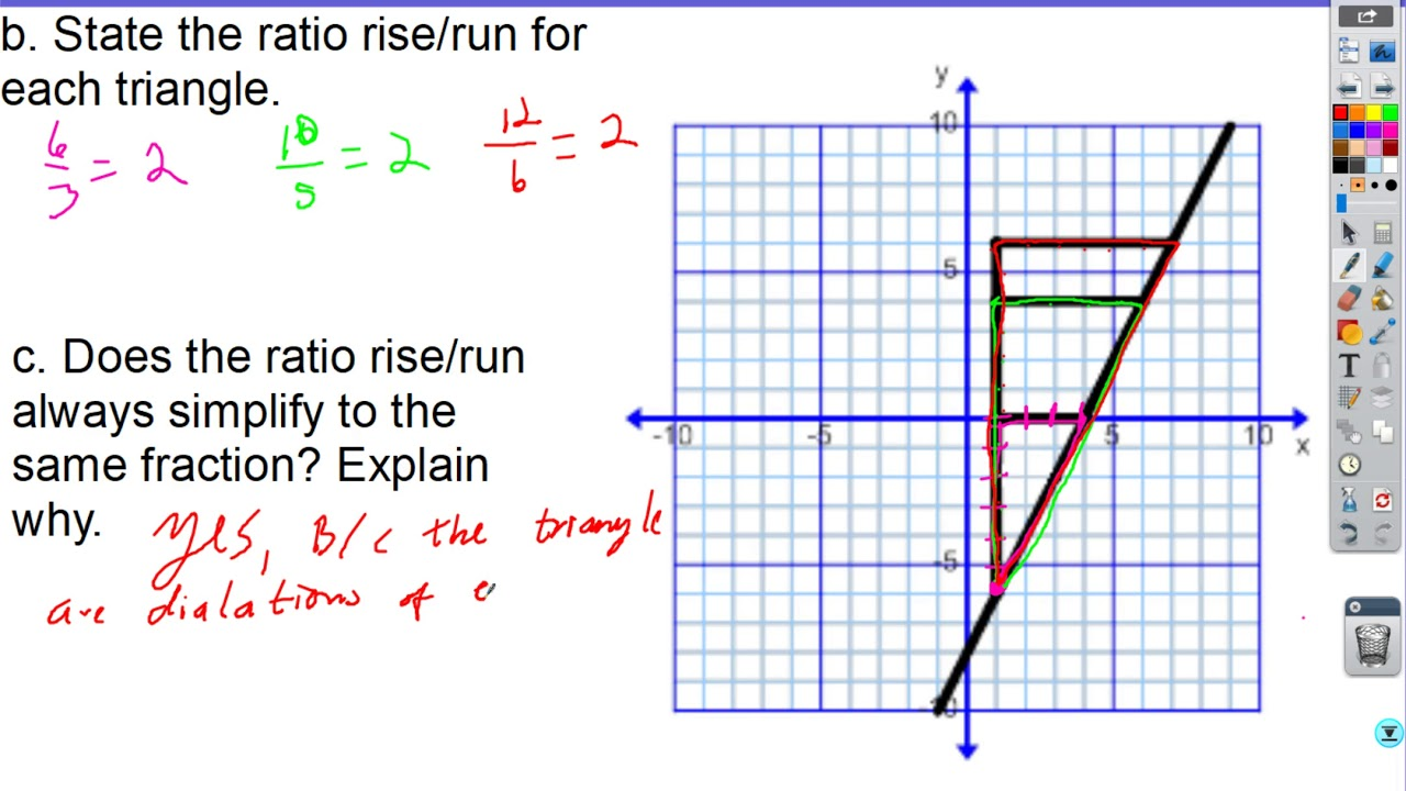 Lesson 2 2B Similar Triangles and Slope Part 1   YouTube