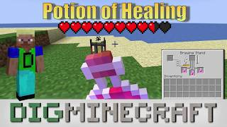 Potion of Healing in Minecraft (Instant Health I and II)