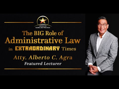 Webinar:  The Big Role of Administrative Law in Extraordinary Times