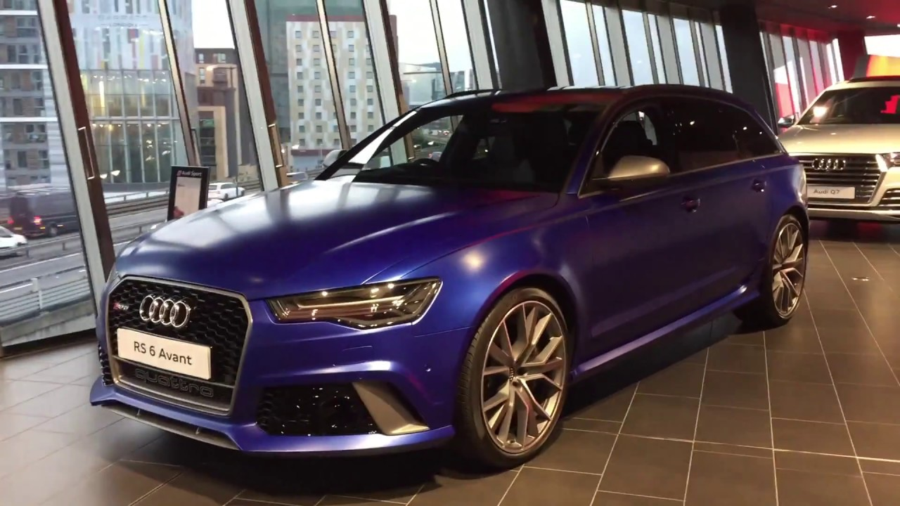2017 Audi Rs6 Avant In Factory Matte Blue Youtube