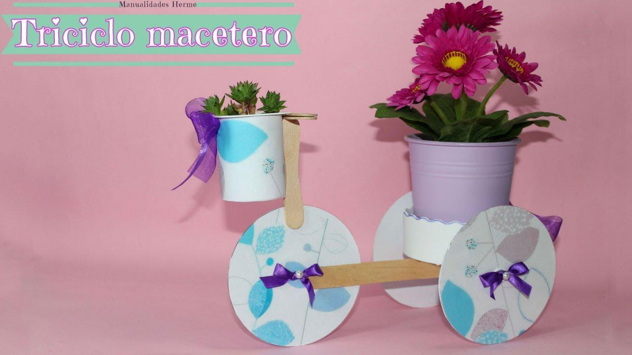 Triciclo macetero reciclado youtube - Decoracion vintage reciclado ...