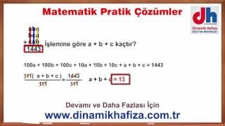 Pratik Yöntemlerle KPSS TYT ALES DGS Soru Çözümleri - 2  www.dinamikhafiza.com.tr