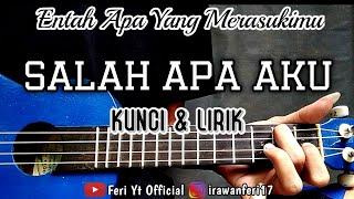 Download Lagu ILIR 7 - Salah Apa Aku Entah Apa Yang Merasukimu Kunci Lirik cover ukulele by Feri Yt MP3