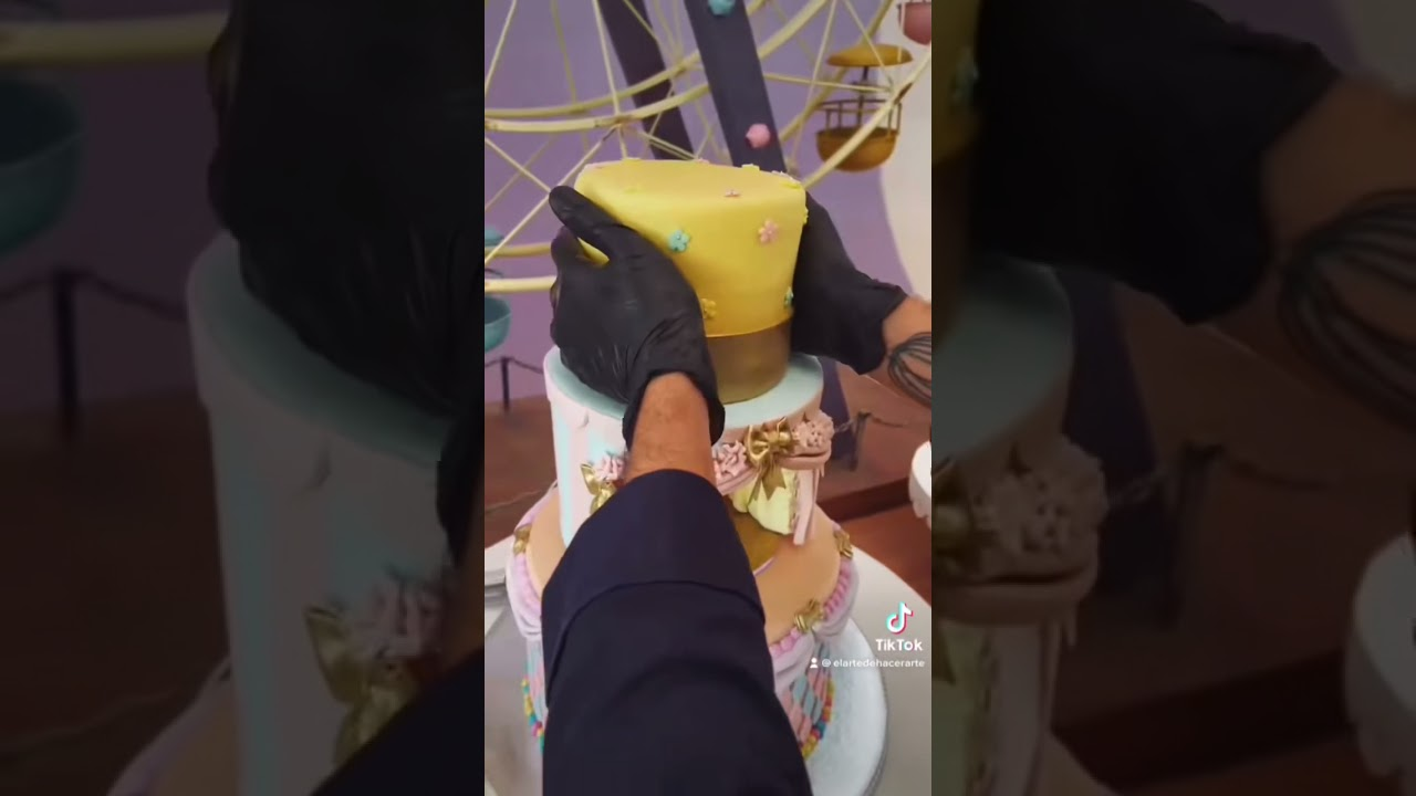 Circus pastel de fondant, ve el video completo en nuestra cuenta de TikTok 😊