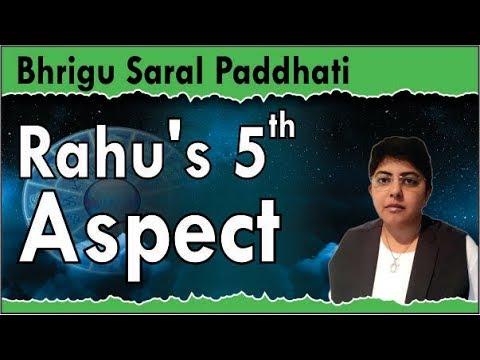 Rahu's 5th aspect: Bhrigu Saral Paddhati