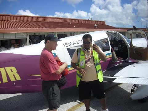 Complete flight over the Saipan Channel from Saipan to Tinian, CNMI
