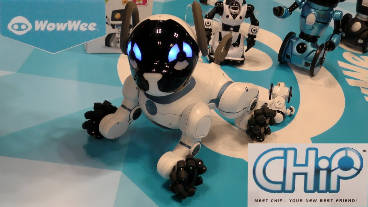 WowWee Chip The Smartest Robotic Pet Dog Toy Fair 2016