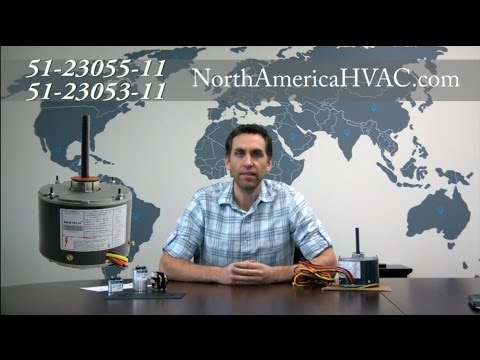 How to wire 51-23055-11 & 51-23053-11 Condenser Fan Motors