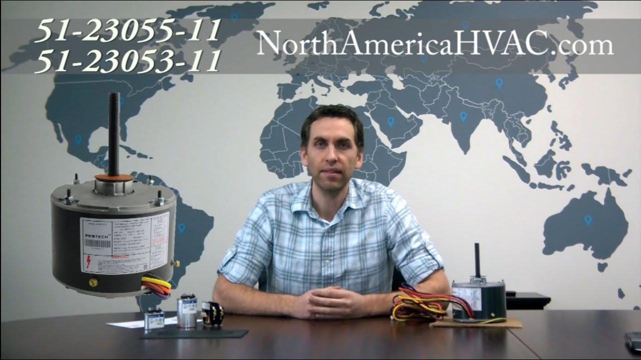 how to wire 51 23055 11 51 23053 11 condenser fan motors [ 1280 x 720 Pixel ]