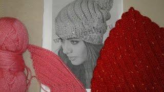 Шапка спицами. Часть 1 // Women's hats knitting