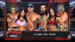 John Cena, Nikki Bella & Kalisto VS Daniel Bryan, Brie Bella & Sin Cara (WWE RAW 2016) | WWE 2K16 PC thumbnail