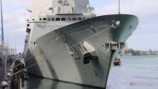 HMAS Brisbane Visits Auckland New Zealand - 2019