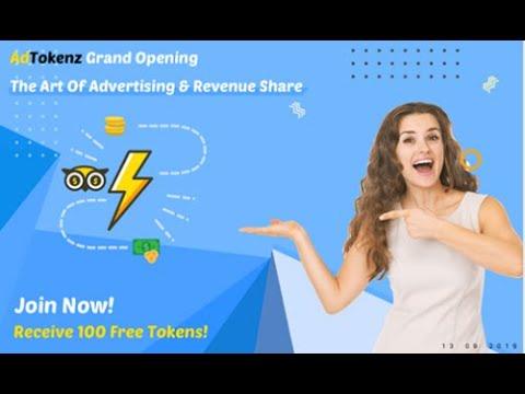 Без вложений  AdTokenz Рекламная Платформа  ПЛАТИТ!  мин  вывод от 5 $