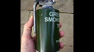 military smoke grenade