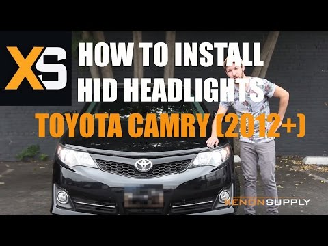 XS Toyota Camry HID Installation - How to Install HID Xenon 2012+